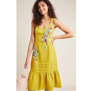 Anthropologie Chicory Beaded Dress